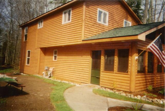 log home side view