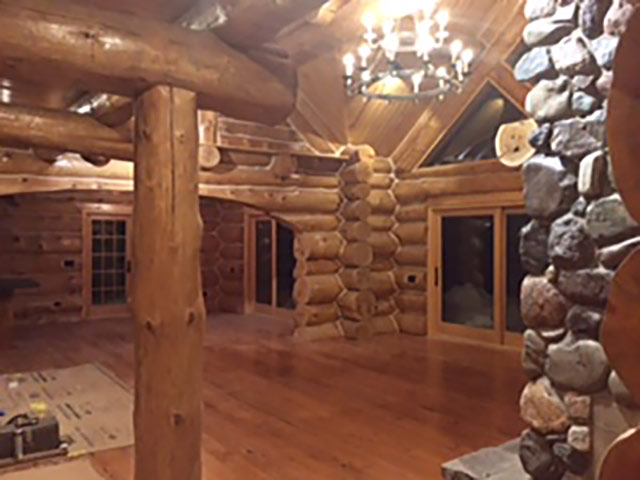 new log home interior 1