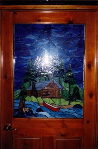 stain glass door
