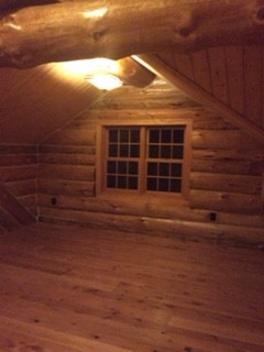 log home finished upper
