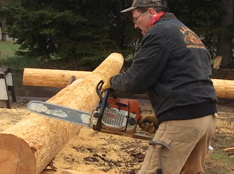 rough log notching